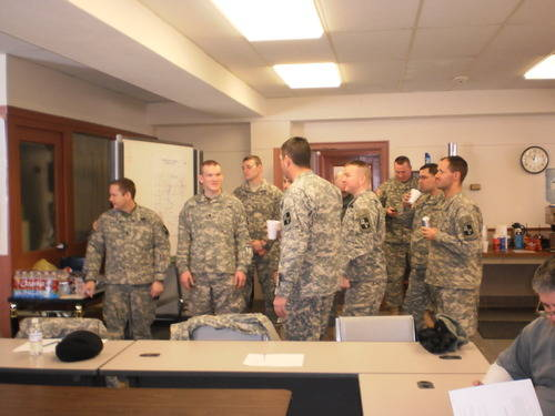 Kansas National Guard at the Wednesday briefing
