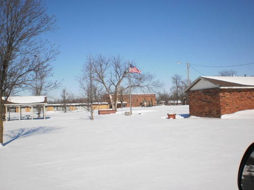 Scammon City Park covered in snow