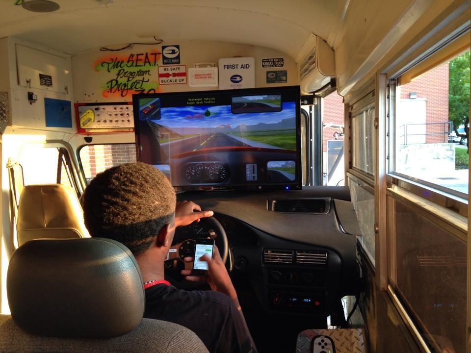 Driving while distracted simulation with one student