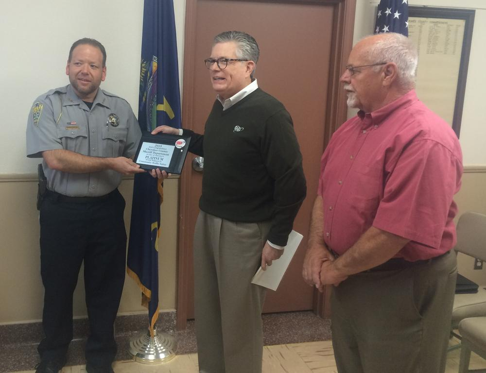 Sheriff Groves accepts AAA Community Traffic Safety Award