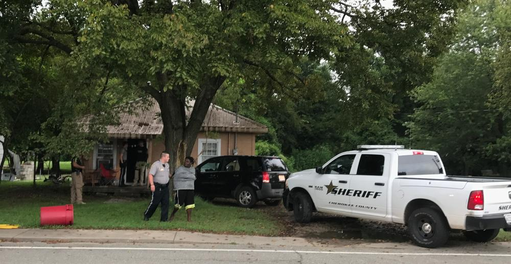 warrant being executed outside residence